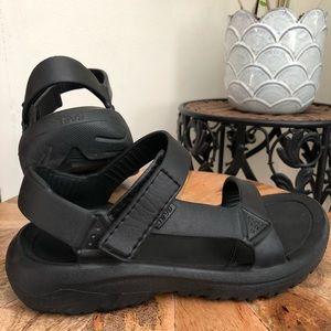 Teva universal waterproof rubber sandal black 7
